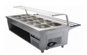 Stainless Steel Bain Marie with Sneeze Guard (Ten Container)