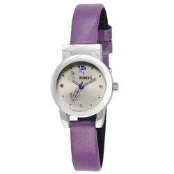 Purple And Silver Rubees Ladies Casual Watch