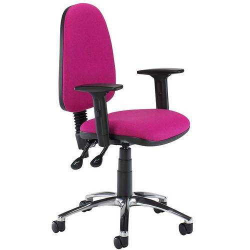 Pink Color Computer Chair With Arms