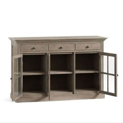Grey Wall Side Wooden Drawer, Size/Dimension: D18 X W56.5 X H36 inch