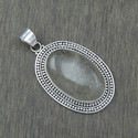 925 Sterling Silver Jewelry Golden Rutile Gemstone Pendant