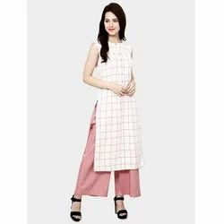 New Cotton Kurtis With Palazzo Set Kurti