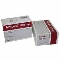 Amoxycillin Amoxil 500 mg Capsules, Packaging Type: Box