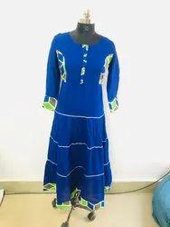 Ladies Cotton Blue Kurti