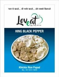 Loveat Round Hing & Black Pepper Papad