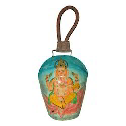 Iron Painted Ganesha Bell Hanging