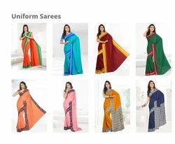 ATC Multicolor Uniform Saree