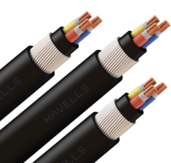 Black Copper And Aluminium Electrical Cables, 240 V, Wire Size: 6-8 Mtr