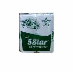 White Soft Virgin Paper Kitchen Towel, 34-36 GSM