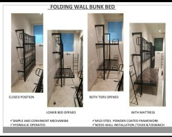 Wall Folding Bunk Bed