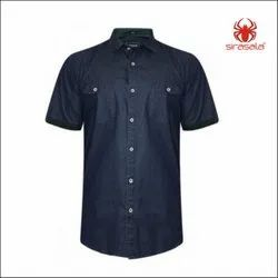 Logo Printed Denim Shirt