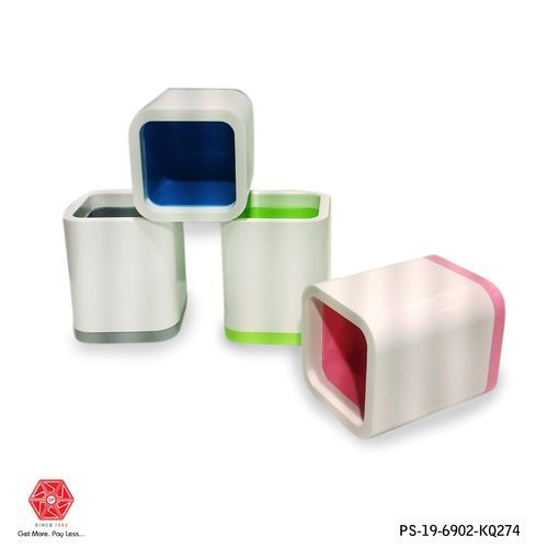 Pink And Green Pen Stand-ps-19