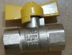 Brass Gas Valve Butterfly 15mm