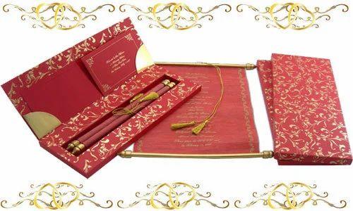 Rectangular Paper Hindu Marriage Wedding Cards Rs 650 Piece Id