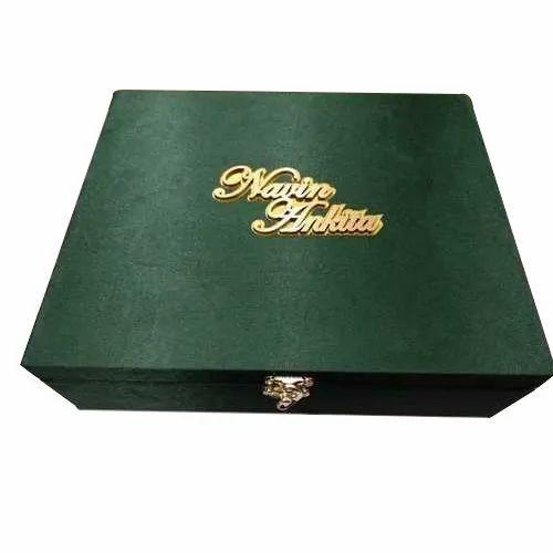 Rectangular Box Invite MDF Wedding Favor Boxes
