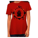 Cotton Designer Red Ladies T Shirt