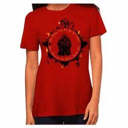 Designer Red Ladies T Shirt