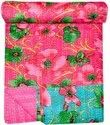 Floral Printed Cotton Kantha Quilts