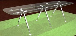 Glass-Top Conference Table