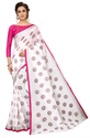 White-Butta Pure Linen Cotton Saree