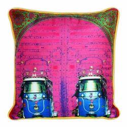 Pink Bloom Poli Dupion Cushion Cover