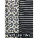 Reyon Printed  Flower Fabric