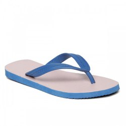 White And Blue Paragon Rubber Slipper, Size: 1 To 6