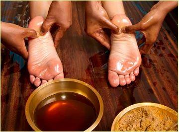 Padabhyanga therapy, आयुर्वेदिक मालिश in