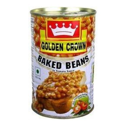Golden Crown Baked Beans Packaging Tin Can No Preservatives Rs 50 Piece Id 19894103212