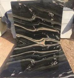 Polished Black Marble, Thickness: 16-20 Mm, Slab