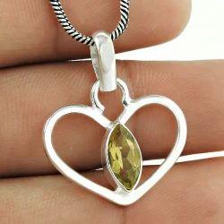 Creative Heart Design 925 Sterling Silver Pendant