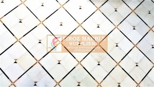 Polished Marble Flooring Mnaufacturer, Thickness: 15-20 mm, We Take Above 4000 Square Feet