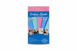 PINK Rectangular Embuer Health Fabric Duster, 20 Pieces, Size: 30 X 50 Cm