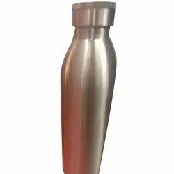 Shivang Enterprises Glossy Silver Color Copper Water Bottle, Screw Cap