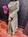 Soft Handloom Cotton Silk With Silverzari Weaving Saree
