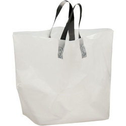 White & Ivory Non Woven Box Type Loop Handle Bag, Thickness : 60 GSM