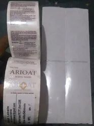Transparent &printed Transparent Label for product & Barcode label., Packaging Type: Foil