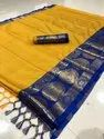 Golden Border Ladies Silk Saree