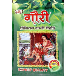 Gauri Green Mehandi Powder, Pack Size: 500gm, Pack Type: Zipper Lock Poly