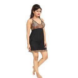 Fancy Short Length Net Nighty