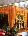 Yellow Flower Decoration Wedding, India