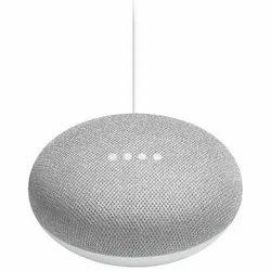 Black And Grey Google Home Mini Interactive Smart Speaker, Size: Small