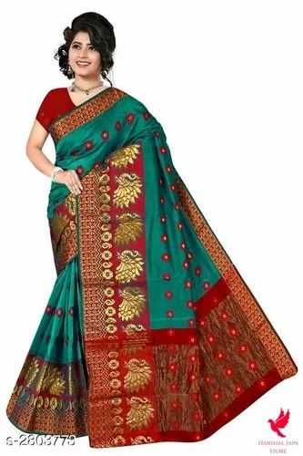 Women Sarees, With blouse piece, DEPEND ON PRODUCT