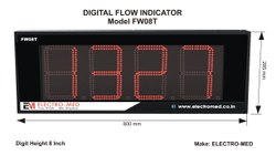 Flow Monitor Jumbo With Totalizer 8 Inch