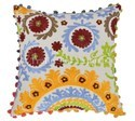 Indian Suzani Pillows Embroidered Cushion Covers