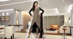 Cotton Black Georgette Punjabi Suit