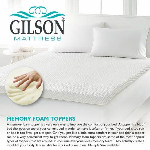 Memory Foam Topper Gilson Memory Foam Topper