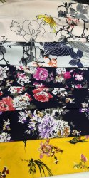 Printed Crape Fabric