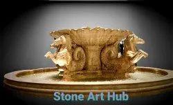 White Horse Marble Stone Fountains