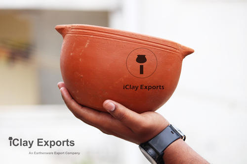Brown Round Clay Dal Pot, Size: Medium , For Cooking